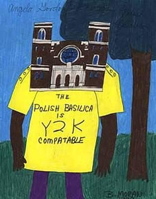 Drawing - The Polish Basilica by Barb Moran