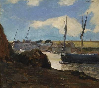 Bath Time - The Port of Morgat, 1882 by Odilon Redon