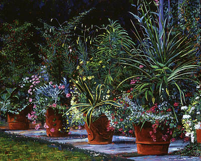 Painting -  The Potted Garden by David Lloyd Glover