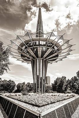 Photograph - The Prayer Tower - Tulsa Oklahoma - Sepia Edition by Gregory Ballos