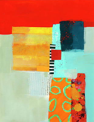 Collage Painting - The Primaries by Jane Davies
