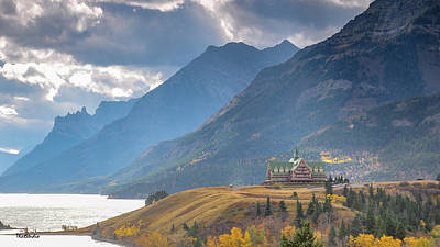 Photograph - The Prince Of Wales Hotel Overlooking Upper Waterton Lakes by Tim Kathka