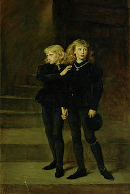 Painting - The Princes In The Tower  by John Everett Millais