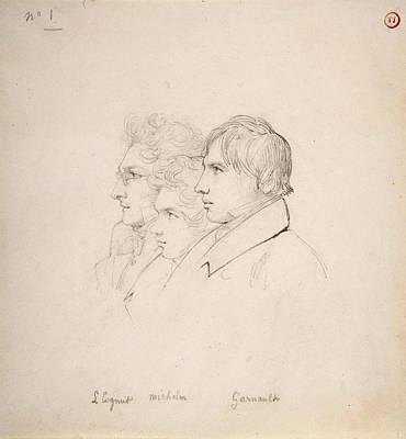 Drawing - The Prix De Rome Winners Of 1817 by Leon Cogniet