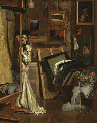 Painting - The Psyche by Alfred Stevens