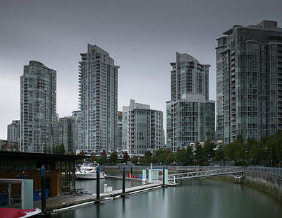 The Quayside Marina - Yaletown Apartments Vancouver Art Print