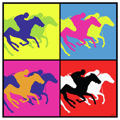 Drawings Royalty Free Images - The Race Horse Royalty-Free Image by Greg Joens