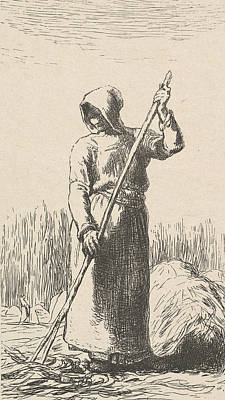 Relief - The Raker by Jean-Francois Millet