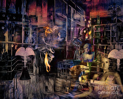 Digital Art - The Reading Room by Edmund Nagele