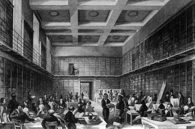 The Reading Room Art Print by Hulton Archive