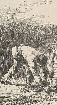Relief - The Reaper by Jean-Francois Millet