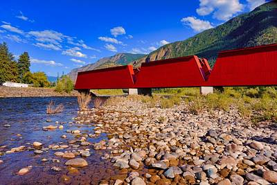 Photograph - The Red Bridge by Bryan Smith