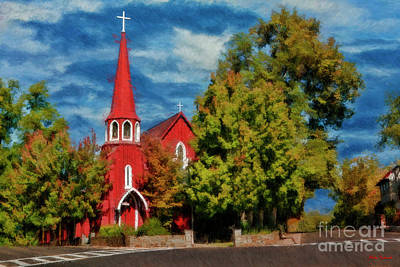 Photograph - The Red Church Saint James Episcopal Church by Blake Richards