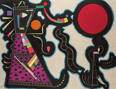 Kandinsky Wall Art - Painting - The Red Circle - Der Rote Kreis by Wassily Kandinsky