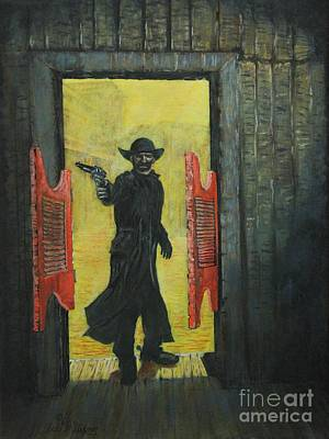 Painting - The Red Saloon Doors.....what Next by Bob Williams