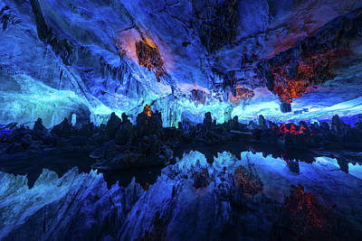 Photograph - The Reed Flute Cave, In Guangxi Province, China by Ian Robert Knight
