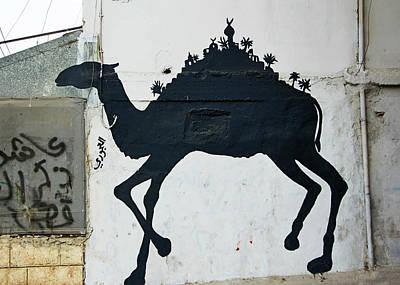 Photograph - The Refugee Camp Camel by Munir Alawi