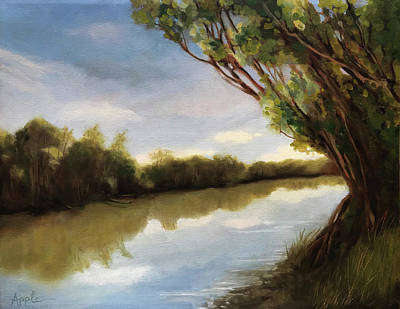 Painting - The River by Linda Apple