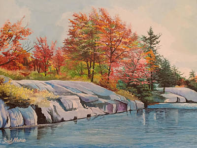 Painting - The River by Said Marie