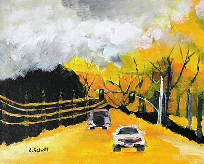 Painting - The Road Home by Christina Schott