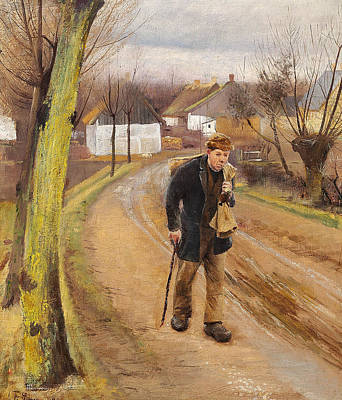 Painting - The Road Through The Village Of Ring by Laurits Andersen Ring