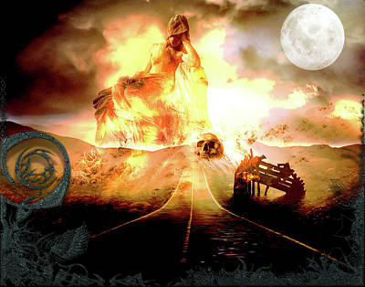 Digital Art - The Road To Hell by Michael Damiani