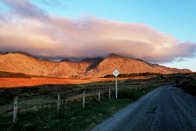 Photograph - The Road To The Cuillins by Nicholas Blackwell