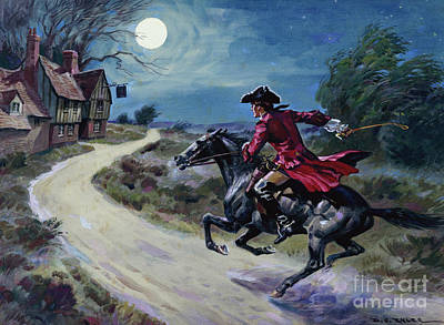 Painting - The Road Was A Ribbon Of Moonlight Of The Purple Moor, The Highwayman Came Riding by Derek Charles Eyles