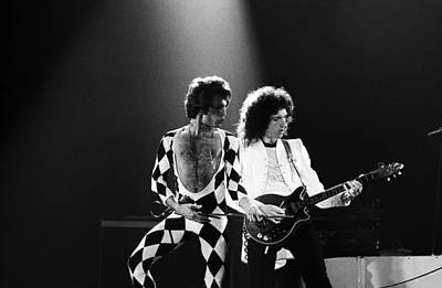 Freddie Mercury Wall Art - Photograph - The Rock Group Queen In Concert by George Rose