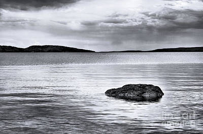 Photograph - The Rock In The Water by Elaine Manley