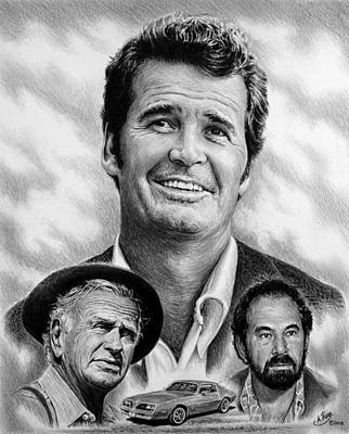 Pontiac Drawing - The Rockford Files by Andrew Read