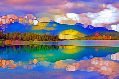 Digital Art - The Rockies Reflected At Sunset by Tara Turner