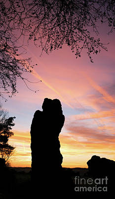 Photograph - The Rollright Stones Sunrise Silhouette by Tim Gainey