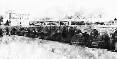Painting - The Roman Bridge Of Cordoba - 02 by Andrea Mazzocchetti