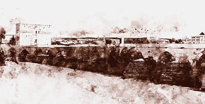 Painting - The Roman Bridge Of Cordoba - 04 by Andrea Mazzocchetti