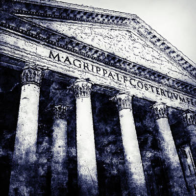 Painting - The Roman Pantheon - 05 by Andrea Mazzocchetti