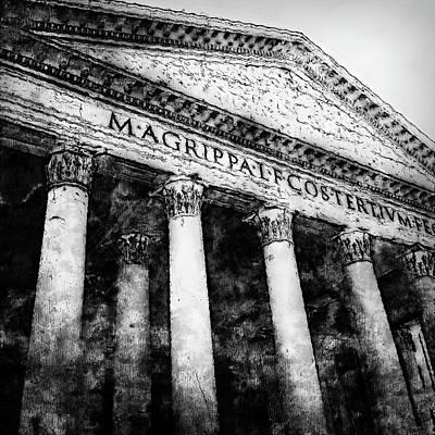 Painting - The Roman Pantheon - 06 by Andrea Mazzocchetti