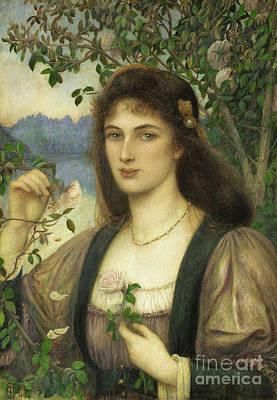 Painting - The Rose From Armidas Garden by Marie Spartali Stillman