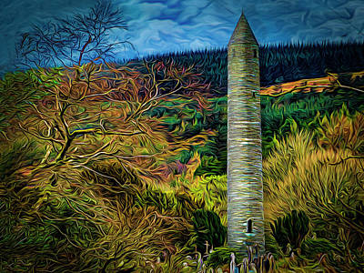 Photograph - The Round Tower Glendalough by Paul Wear