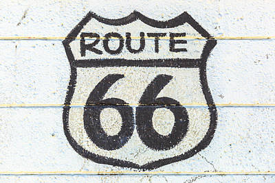 Photograph - the Route 66 sign by Benny Marty
