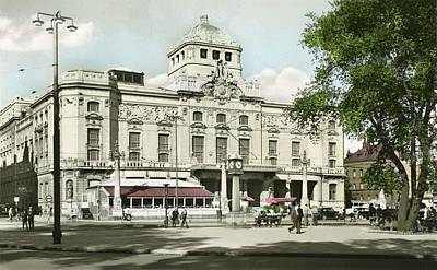 Painting - The Royal Dramatic Theatre At Nybroplan In Stockholm City  by Celestial Images