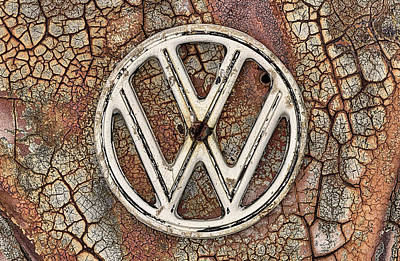 Photograph - The Rusty Vw Emblem  by JC Findley