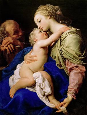 Painting - The Sacred Family - Pompeo Batoni by Weston Westmoreland