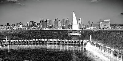 Photograph - The San Diego Skyline by David Patterson