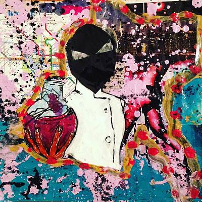 Mixed Media - The Scientist by Dele Akerejah