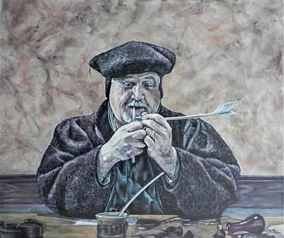 Painting - The Scrivener by John Neeve