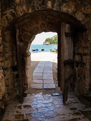 Photograph - The Sea Behind The Old Doors by Rae Tucker