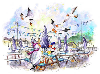 Painting - The Seagulls Of Porthleven 05 by Miki De Goodaboom
