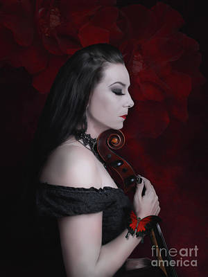 Digital Art - The sense of the cello by Babette Van den Berg