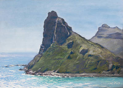 Pastel - The Sentinel, Hout Bay by Christopher Reid